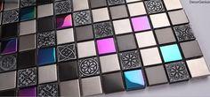Pink Crystal Decorative Metal Tile Backsplash Galvanized Floor Wallpaper Mosaic Tiles-in Mosaics from Home Improvement on Aliexpress.com | Alibaba Group