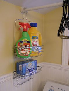 Great organization for small laundry rooms