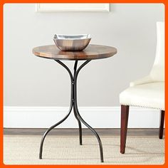 Safavieh American Home Collection Stalham Copper and Brown Side Table - Improve your home (*Amazon Partner-Link)