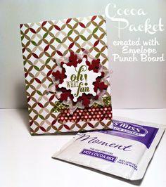 Cocoa Packet w/ Envelope Punch Board! (Idee für Cappuccino-Portiostüten ?) --> Kein Link nur Abb.!!!