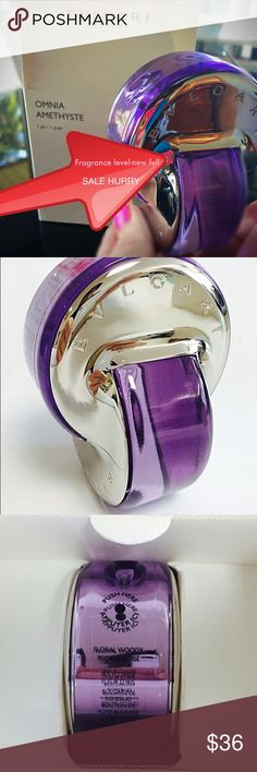NEW BVLGARI OMNIA AMETHYSTE Women's 2.2 oz 💜 Omnia, Amethyste Perfume by Bvlgari, Launched in 2007, it opens on notes of green sap and pink grapefruit, giving way to the prominent accords of iris and bulgarian rosebud . The base features heliotrope and solar woods accords. All products are original, authentic name brands. I do not sell knockoffs or imitations 💯 REG $77 PRICE IS FIRM THE BERY BEST DEAL ON THE INTERNET! DO NOT ASK FOR BETTER PRICING 🚫 I sell FAST due to same listing on…