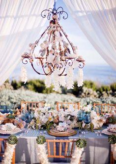 Blue and white / silver wedding decor Beach Wedding Reception Beach Wedding Reception, Mod Wedding, Chic Wedding, Perfect Wedding, Wedding Events, Wedding Blog, Floral Wedding, Reception Food, Seaside Wedding