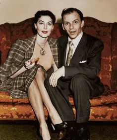 Ava Gardner and Frank Sinatra......Uploaded By  www.1stand2ndtimearound.etsy.com