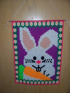PRIVATE LISTING for Debbie - Easter Bunny Beaded Banner
