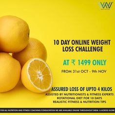 Lose the extra kilos at the convenience of your home! The last challenge for the month starts on the Registrations are open and you can get in touch with us at 88844 Nutrition Tips, Fitness Nutrition, Worlds Of Wow, Weight Loss Challenge, 10 Days, Coaching, Challenges, Diet, How To Plan