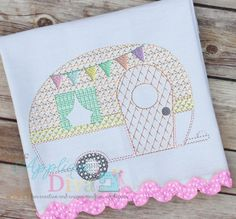 Vintage Stitch Glamping Camper Digital by theappliquediva on Etsy