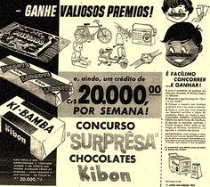 Delicado, Lingote e Ki-Bamba' no concurso surpresa dos sorvetes Kibon.