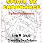 "This packet is a Fifth Grade Treasures Resources for ""Spirit of Endurance"".  These resources compliment 5th grade Treasures (Unit 5 Week 1) ""Spirit..."