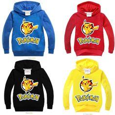 17c890de pokemon Hoodies Sweatshirts for children. Baby Boy T ShirtHooded ...