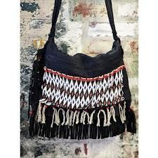 african detailed  purse