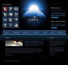 Zodiac Science Website Templates by Delta