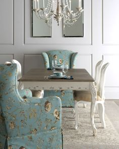 Priscilla Wing Chair, Bissett Side Chairs, U0026 Natural Dining Table | Wine  Room | Pinterest | Upholstery, Chairs And Natural