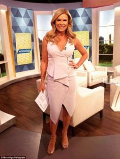 Sonia Kruger wows in daringly low-cut dress as she returns to Mornings - Celebrity Fashion Trends