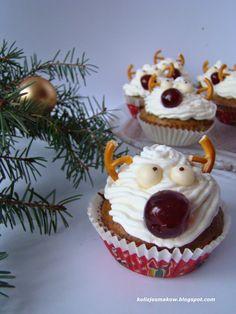 "Muffinki/Babeczki makowe z reniferem ""Rudolfem"""