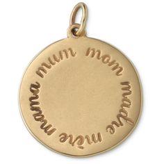 Stella & Dot Mom Charm - Bronze featuring polyvore, women's fashion, jewelry, pendants, charm, stella & dot, chains jewelry, stella dot charms, charm pendant, charm jewelry and stella dot jewellery