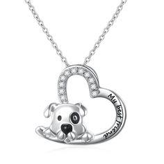 "Pendants, 925 Sterling Silver Engraved "" My Best Friend "" Cute Animal Dog Pendant Necklace for Women- - Dog Jewelry, Animal Jewelry, Jewelry Design, Jewelry Sets, Silver Charms, Silver Jewelry, Silver Ring, Silver Earrings, Gold Jewellery"