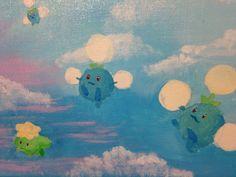 Pokemon Jumpluff 8x10 Painting by TheQuestofJess on Etsy