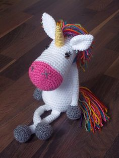 Bacon the Rainbow Unicorn - free crochet pattern by Fibre Equations