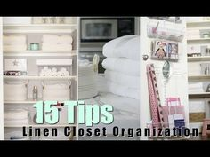 15 Tips For Organizing Your Linen Closet! MissLizHeart - YouTube