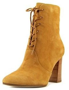 Marc Fisher Edina Women Round Toe Suede Brown Ankle Boot.