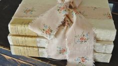 Shabby Book Bundle French Country Home Decor by RustbeltTreasures, $38.00