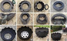 Ever wonder how tires are turned into garden pots...