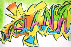 graffiti art - for portfolio covers