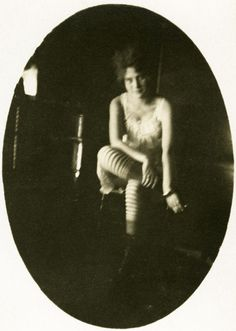 Striped stockings, turn of the century