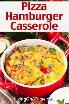 Hamburger Casserole Recipes For Quick And Easy Meals! – – Living on a Dime Best Hamburger Casserole Recipes, Hamburger Pizza, Easy Casserole Recipes, Beef Casserole, Casserole Dishes, Oven Hamburgers, Quick Meals, Good Food, Oven Fried Chicken