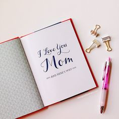 GIFT IDEA | I Love You Mom Book by M.H. Clark   Giveaway