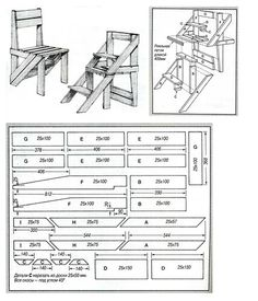 Diy Outdoor Furniture, Furniture Projects, Furniture Plans, Wood Furniture, Amish Furniture, Wooden Pallet Projects, Woodworking Projects Diy, Woodworking Plans, Ladder Chair