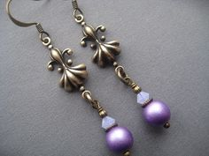 Fleur De Lis Earrings Fleur De Lis by SilverTrumpetJewelry, $20.00