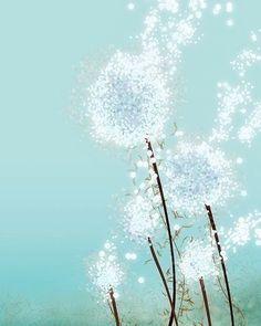 dandelion art print from papermoth on etsy Watercolor fashion illustration fashion illustration Rene Gruau Art And Illustration, Dandelion Art, Dandelion Seeds, Dandelion Light, Art Plastique, Love Art, Painting Inspiration, Color Inspiration, Perennials