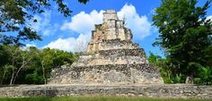 Photos and description of Muyil Chunyaxche, Mayan ruins located 25km south of Tulum Mexico