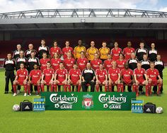 Liverpool FC Squad now this was a hell of a team Liverpool Fc Team, Squad Pictures, You'll Never Walk Alone, Snacks For Work, Football Team, Soccer Teams, Soccer Shoes, Dog Snacks, Fernando Torres