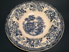 Tonquin 'Blue' Royal Staffordshire bowls by by PostcardsfromLily