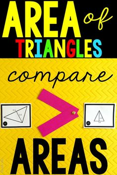 EASY area of a triangle ideas to keep students math skills sharp! Comparing triangles!