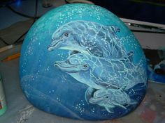 Google+...beautifully painted dolphins!