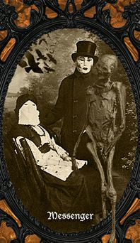 Oracle of Shadows - A creepily unique card oracle of thrills and chills - for divination, Samhain/Halloween, anytime shadow work, or just fun! Created from dark and strange vintage imagery, the. Creepy Images, Samhain Halloween, Season Of The Witch, Victorian Gothic, Light In The Dark, Tarot, Weird, Coffin, Painting