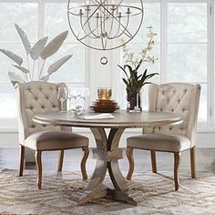 20 Sleek and Elegant Dining Room Table Design with Modern Style - homesuka Grey Dining Tables, Elegant Dining Room, Pedestal Dining Table, Dining Room Design, Dining Room Table, Dining Chairs, Kitchen Tables, Dining Sets, Dining Rooms