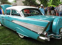 1957 Chevrolet Bel Air's At Their Finest while on display at the Art Of The Car Concours in Kansas City, MO. More Pictures on the site at http://imagemotorsports.com/1957-chevrolet-bel-airs-at-their-finest/ #imagemotorsports #drivewithimage #chevrolet #chevroletbelair #1957belair #1957chevrolet #vintagecars #classiccars