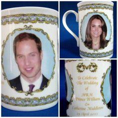 Prince William And Catherine Royal Wedding Mug English Bone China 2011
