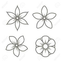 Flower Drawing Discover Jasmine Flower Icons Set on White Background. Vector illustration Jasmine Flower Icons Set on White Background. Flower Outline, Flower Logo, Flower Mandala, Flower Art, Beading Patterns, Flower Patterns, Flower Pattern Drawing, Jasmin Tattoo, Jasmine Flower Tattoos