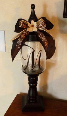Cher's Signs by Design: Personalized Candy Jars Wine Bottle Crafts, Mason Jar Crafts, Mason Jar Diy, Homemade Crafts, Easy Diy Crafts, Fun Crafts, Tree Crafts, Altered Bottles, Antique Bottles