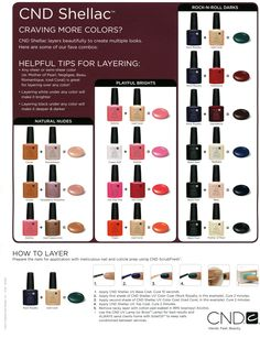 Convine Shellac Colors #Combination #Nails #SpaOnTheLake #Shellac #LakeOrion