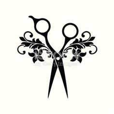 Beauty salon symbol, black color