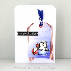 Annikarten: Seize the Birthday: Red, White and Blue My Favorite Things - Penguins in Paradise
