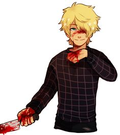 """kyburpudu: """"Nagiko and Clayton for """" Male Yandere, Candy Gore, Character Inspiration, Character Design, Gore Aesthetic, Poses References, Creepypasta, Illustrations, Dark Art"""