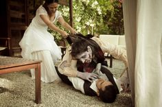 Zombie attack engagement photos..... I could so see Justin and I doing this LMFAO!