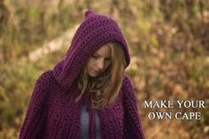 Image result for knitted cape hood